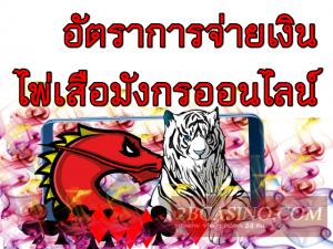 อัตราการจ่ายเงิน ไพ่เสือมังกรออนไลน์