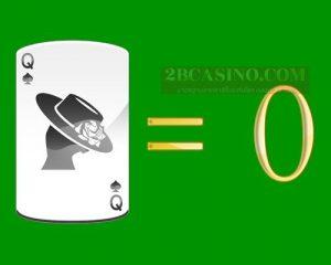 ไพ่ Q หรือ QUEEN มีค่า 0 แต้ม