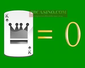 ไพ่ K หรือ KING มีค่า 0 แต้ม