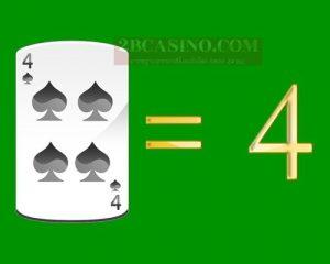 ไพ่ 4 หรือ FOUR มีค่า 4 แต้ม