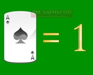 ไพ่ A หรือ ACE มีค่า 1 แต้ม