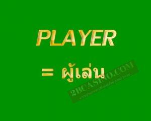 . Player เดิมพันเป็น ผู้เล่น