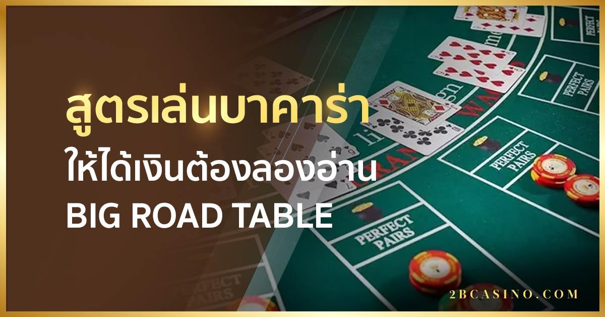 สูตรเล่นบาคาร่าให้ได้เงินต้องลองอ่าน Big Road Table